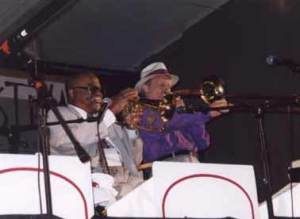 Clark Terry and Bryan Gould